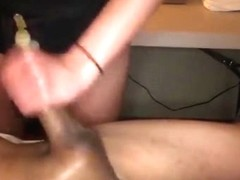 Kissing his dick after cumming