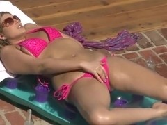 Horny dude Voodoo loving the outdoor fucking of the blondie Athena Pleasures