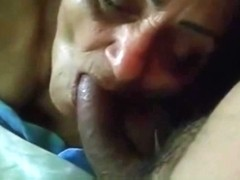My old maid sucking my cock. Amateur