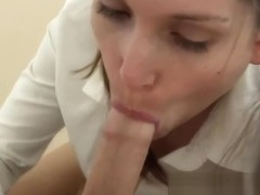 Bratty pigtail classmate ruins your blowjob orgasm...